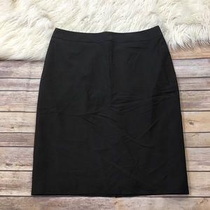 Ann Taylor Skirt Dark Brown Pencil Career Size 10